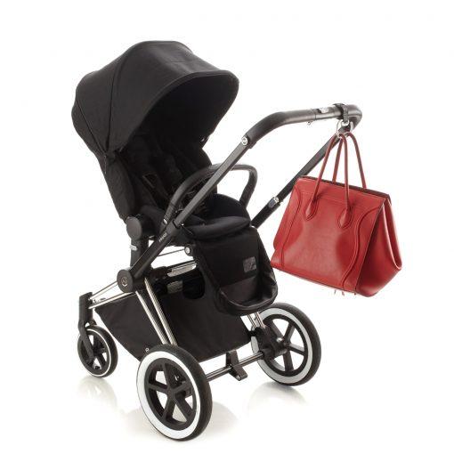 Ali+Oli Adjustable Stroller Hook Leather-Look