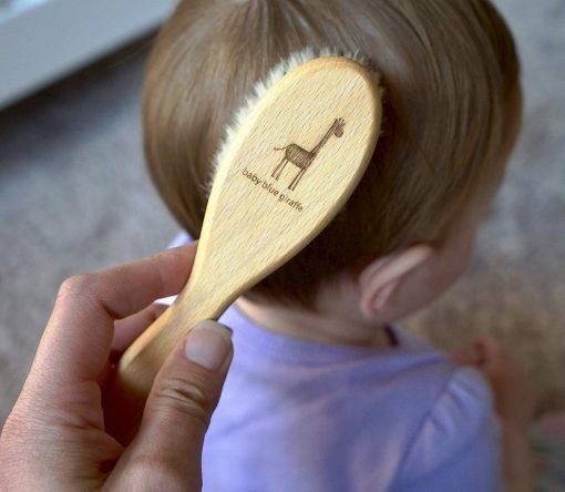 Baby Blue Giraffe Hair Brush is Gentle on Scalps