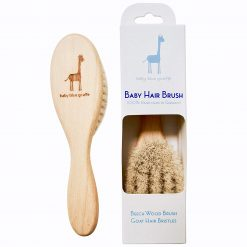 BABY BLUE GIRAFFE BABY HAIR BRUSH - 100% HAND MADE