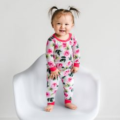 Little Sleepies Roses Two Piece Pajama Set