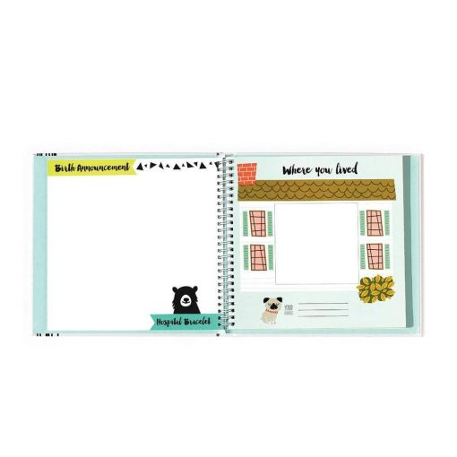 Document Baby's Milestones with this Animal Lover Baby Book by Lucy Darling