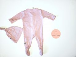 Blush Snap Footie with Hat in Newborn from Kyte BABY Gently Used Baby Clothes