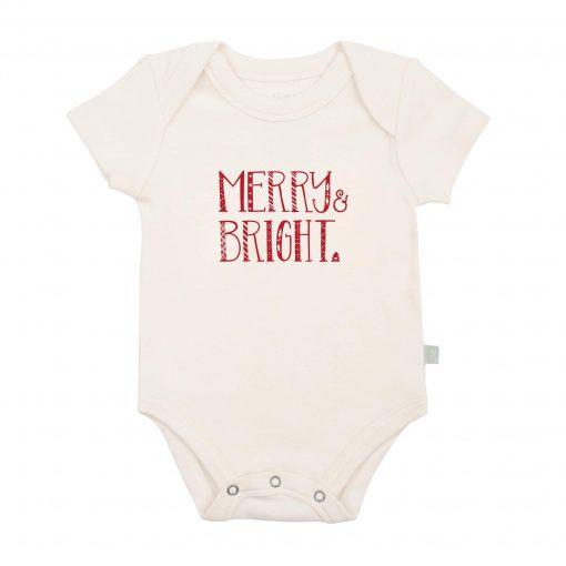 finn + emma Merry & Bright Organic Graphic Bodysuit