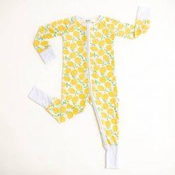 Little Sleepies Lemon Print Sleeper for Babies and Toddlers