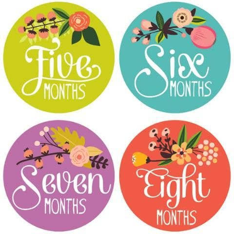 Floral Monthly Milestone Stickers