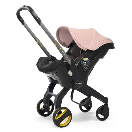 Comfortable Blush Pink Car Seat & Stroller by Doona
