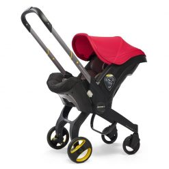 Comfortable Flame Red Car Seat & Stroller by Doona