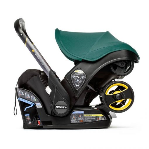 Comfortable Racing Green Car Seat & Stroller by Doona
