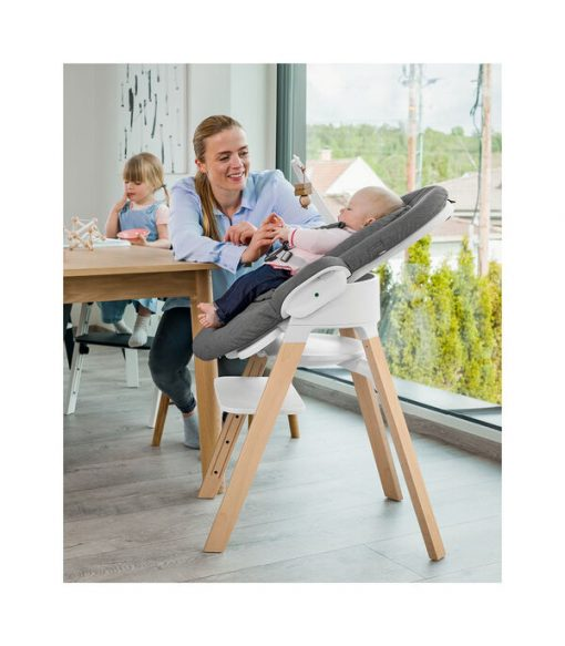 Stokke Steps High Chair with Optional Steps Bouncer