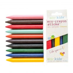 Three-sided crayons from eco-kids do not roll