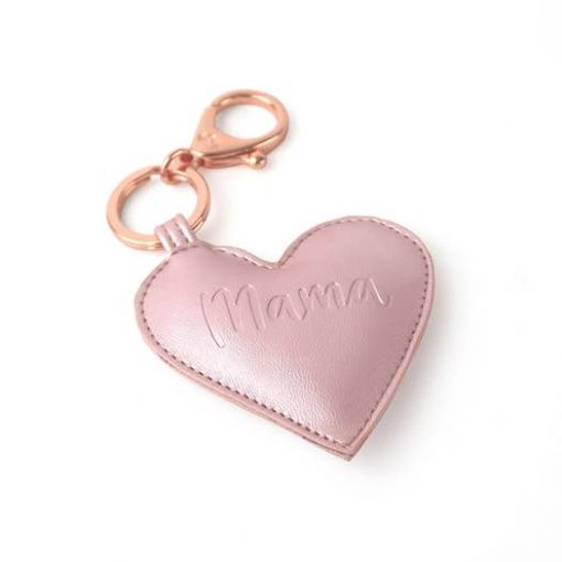 Itzy Ritzy Heart Mama Charm Keychain for Purses and Diaper Bags