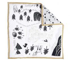 Woodland animal baby mat