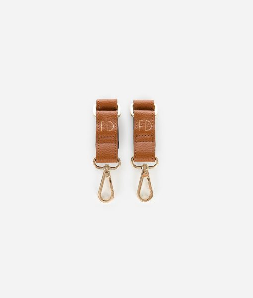 Fawn Design Stroller Hooks in Brown