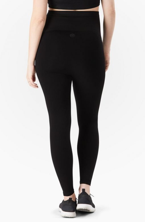 Belly Bandit Bump Support Black Maternity Leggins with a Reinforced Bottom