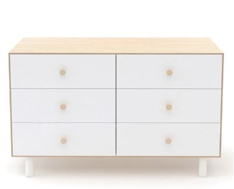 Oeuf Fawn 6 Drawer Dresser - White/Birch