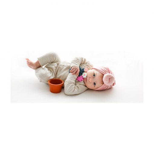 flower pot teething toy