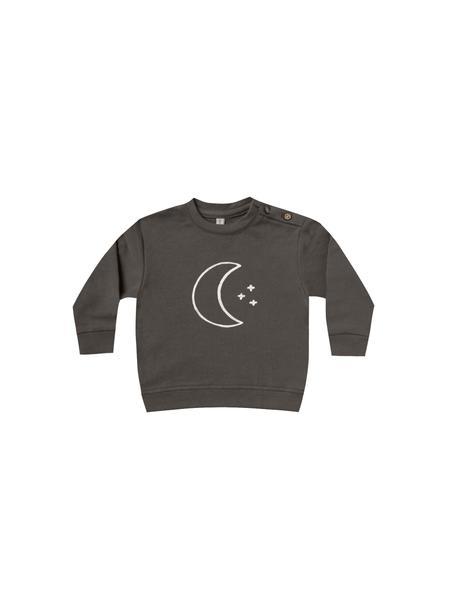 Quincy Mae Coal Fleece Basic Sweatshirt