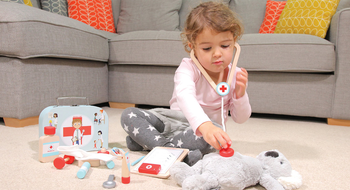 Pretend Play with Wooden Doctor's Set