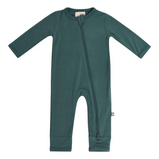 Kyte BABY Zippered Romper in Emerald