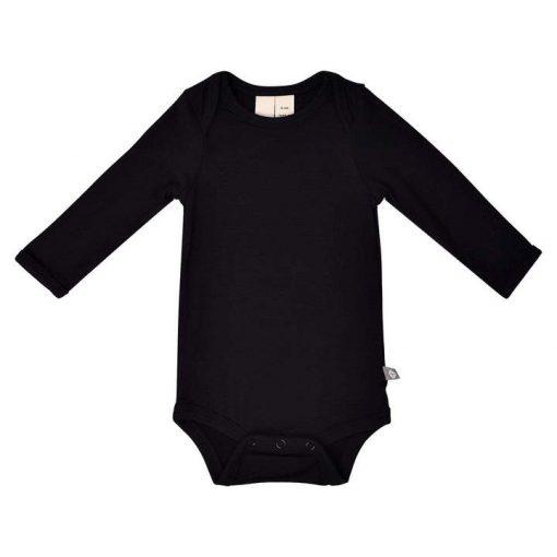 Kyte BABY Long Sleeve Bodysuit in Midnight