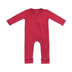 Kyte BABY Zippered Romper in Ruby