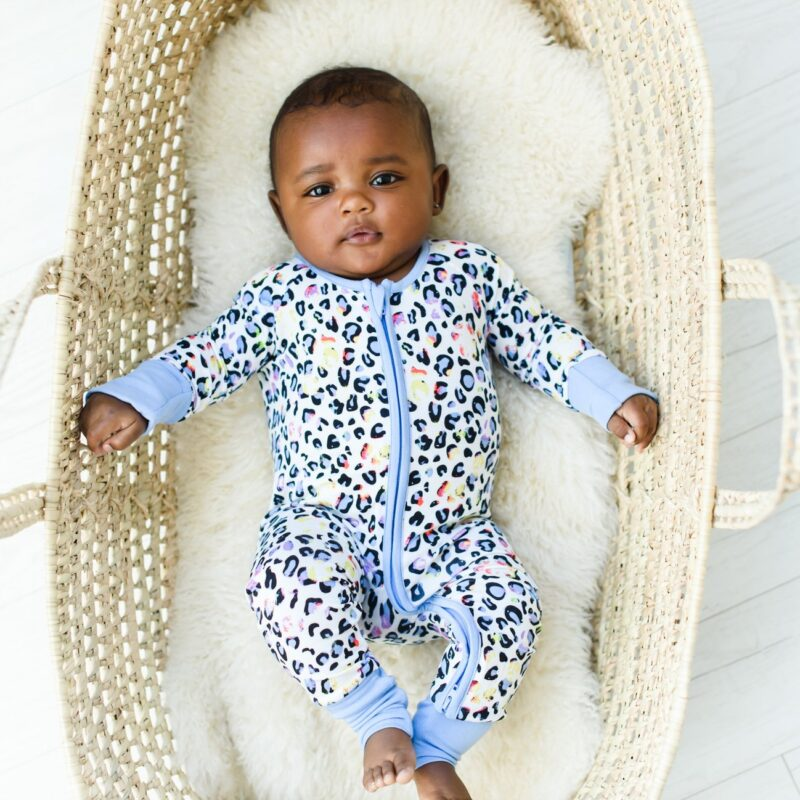 Little Sleepies Leopard Love Zippy in stock now at Blossom!