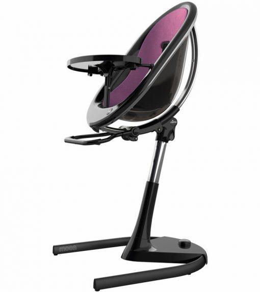 Mima Moon 2G Black High Chair Black / Aubergine H103C-BL-AG