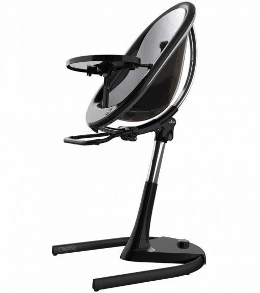 Mima Moon 2G Black High Chair Black / Silver H103C-BL-SV