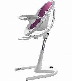 Mima Moon 2G White High Chair White / Aubergine H103C-CL-AG