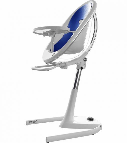 Mima Moon 2G White High Chair White / Royal Blue H103C-CL-RB