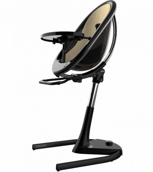 Mima Moon 2G Black High Chair Black / Champagne H103C-BL-CP