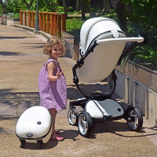 Mima Ovi Hardshell Suitecase in White for Kids