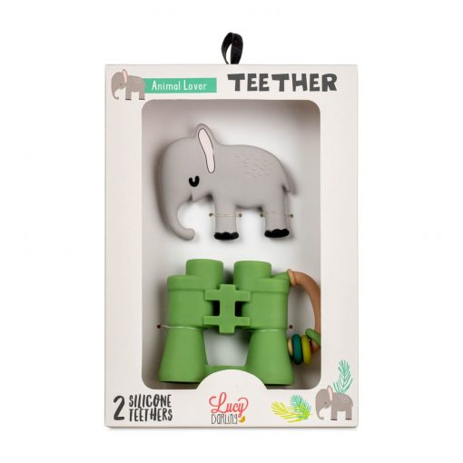 Lucy Darling Animal Lover Teether Toy packaging