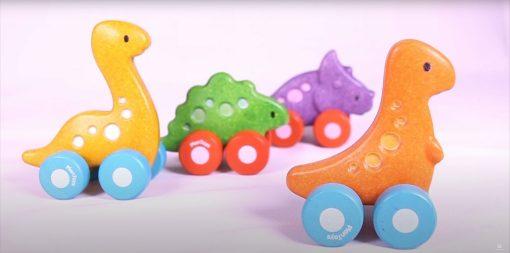 PlanToys Wooden Dino Cars