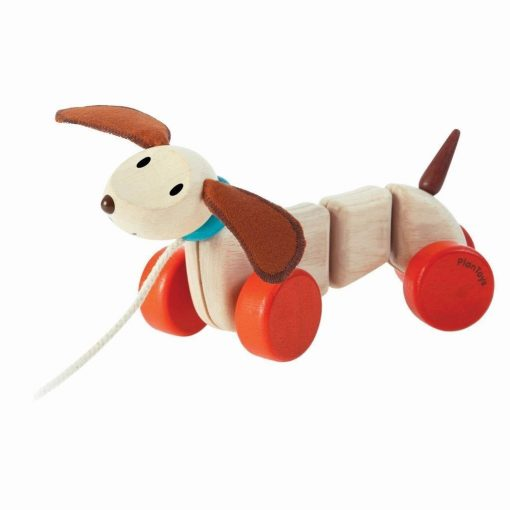 PlanToys Wooden Pull-Along Happy Puppy