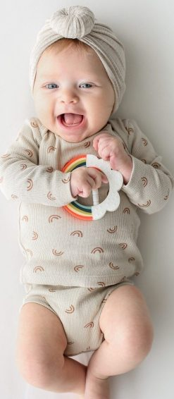 Rainbow teether toy for babies