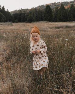 Brown Mushroom Dress from Rylee + Cru