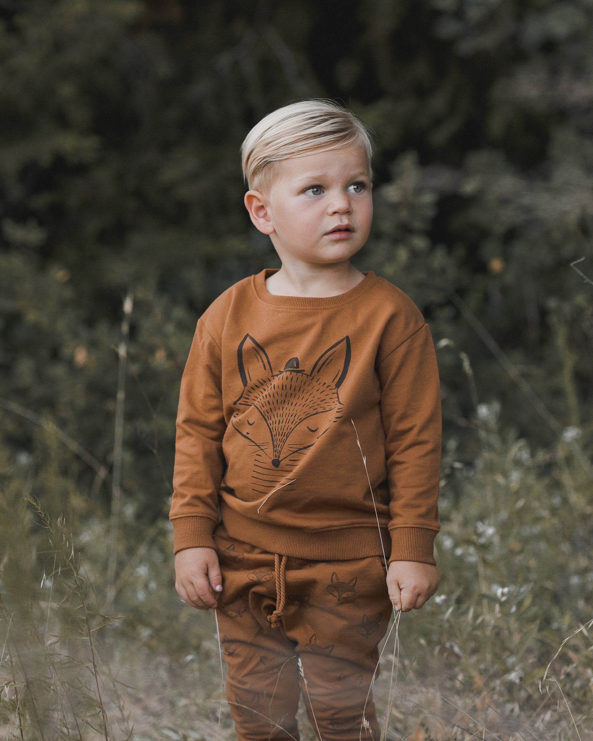 Cinnamon Fox Print Sweatshirt by Rylee + Cru