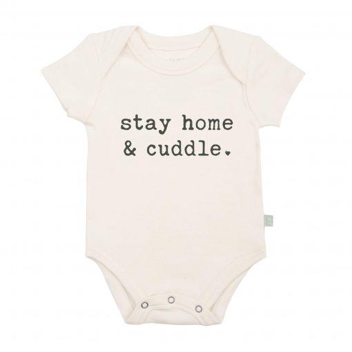finn + emma Stay Home & Cuddle Organic Graphic Bodysuit