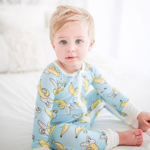 Little Sleepies Bananas Bamboo Viscose Zippy