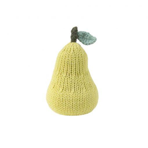 blabla HandKnit Pear Rattle for Babies
