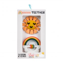 Rainbow teether toy packaging