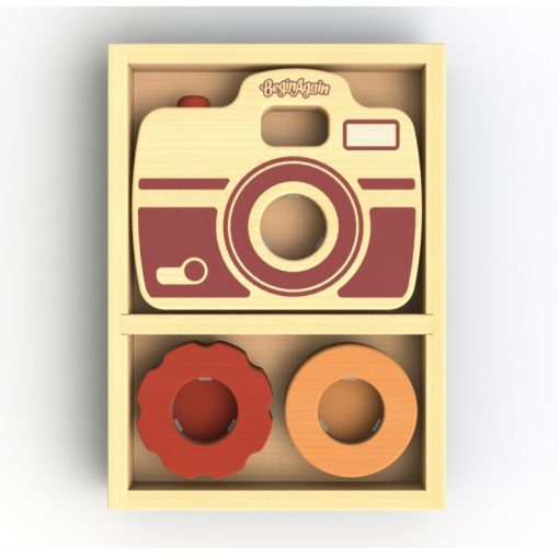 Eco-Friendly Wooden Camera Toy