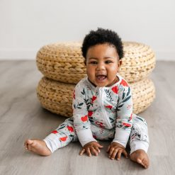 Little Sleepies Winter Floral Bamboo Zippy