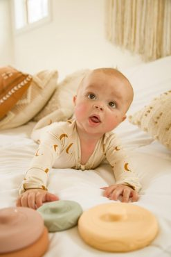 Yellow Willow+Co Sun Baby Clothes Romper and Footie Bamboo Viscose Pajamas