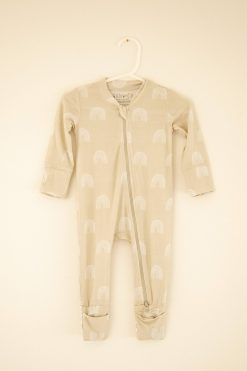 Willow+Co Rainbow Neutral Romper Footie