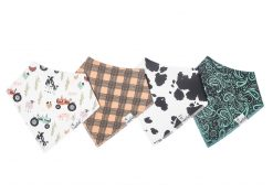 Copper Pearl Bandana Bibs Jo Set of 4 Bibs