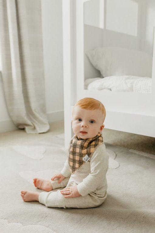 Copper Pearl Absorbent Baby Bibs Adjustable Bandana Bibs Jo Pattern