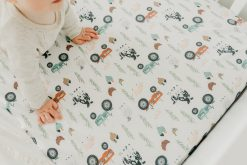 Copper Pearl Soft Standard Baby Crib Mattress Universal Baby Crib Sheet Farmer Pattern