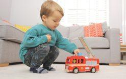Indigo Jamm Freddie Fire Engine Wodden Toy